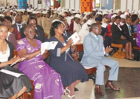 FIRST Lady Esther Lungu yesterday led scores of women at an inter-denominational World Day of Prayer at the Cathedral of the Holy Cross in Lusaka.