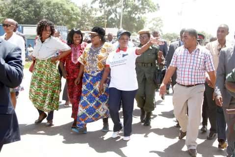 First Lady, Heroes Stadium in Lusaka,Zambia on Sunday,March 8,2015