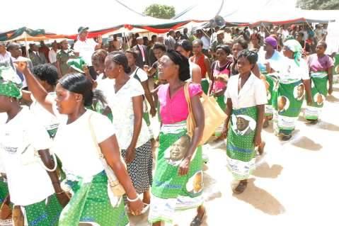 International Women's Day in Lusaka,Zambia on Sunday,March 8,2015