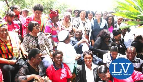 KK posing with some surviving women freedom fighters    - Photo Credit Jean Mandela - Lusakavoice.com