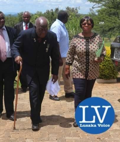 KK walking with Minister of Gender and Child Development Prof Nkandu Luo  - Photo Credit Jean Mandela - Lusakavoice.com