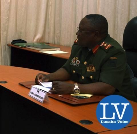 Lt. Gen. Paul Mihova, commander of the Zambian Army - Lusakavoice.com