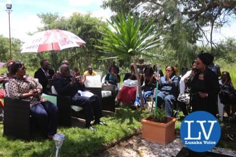 Mama Chibesa Kankasa addressing the gathering    . - Photo Credit Jean Mandela - Lusakavoice.com