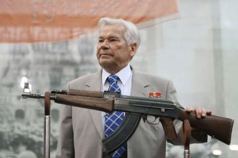 Mikhail Kalashnikov, the inventor of the world's most popular firearm, the AK-47. RIA Novosti