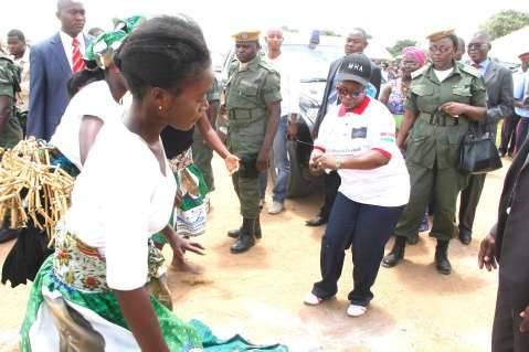 Mrs Lungu dances, International Women's Day in Lusaka,Zambia on Sunday,March 8,2015