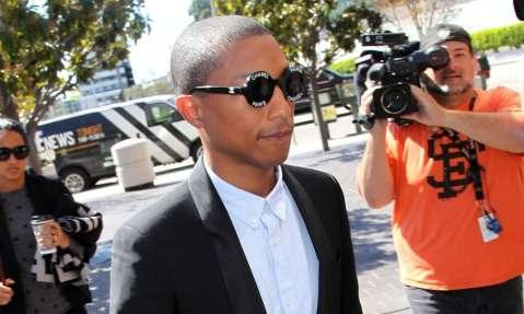 Musician Pharrell Williams is seen outside the Royal Federal Building in Los Angeles, California, last week. Photograph: David Buchan/Getty Images
