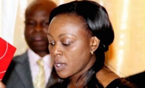 Mwansabombwe Member of Parliament Rodgers Mwewa's wife Anne Mwitwa