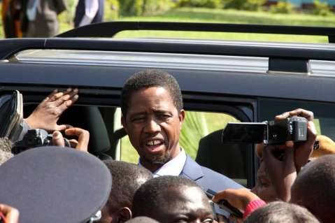 President Edgar Chagwa Lungu at Chawama Basic school on March 10,2015, where he witnessed the filling in of nomination papers of Chawama Constituency PF Parliamentary Candidate Lawrence Sichalwe for Chawama Constituency by Elections Slated for April 14 -Picture by THOMAS NSAMA / State House