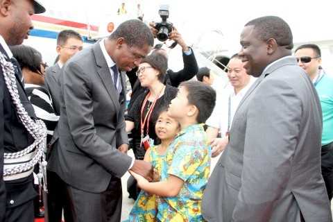 President Edgar Lungu has arrived Sanya ,Hainan Province of China where he is expected to address the BOAO Forum for ASIA -PICTURES BY THOMAS NSAMA and EDDIE MWANALEZA