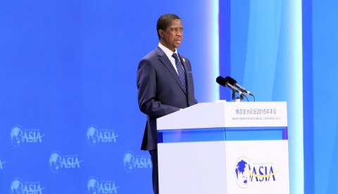 President Lungu speaks during during the Boao forum for Asia in Hainan province of China -Picture by Eddie Mwanaleza