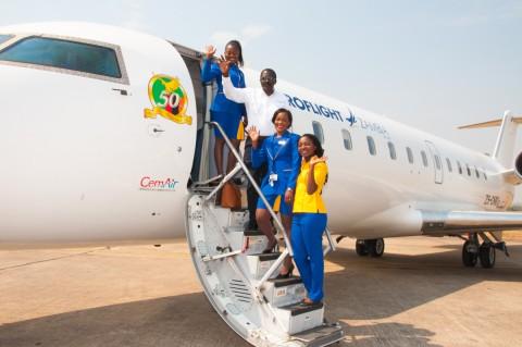 Proflight Zambia's Jubilee jet