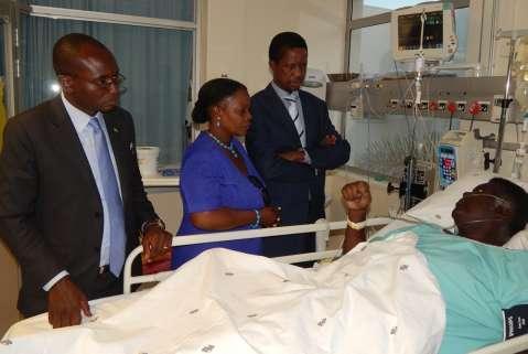 Republican President Edgar Lungu visits Willie Nsanda