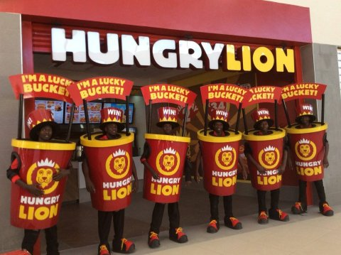 #LuckyBuckets getting ready for our Hungry Lion #MukubaMall opening