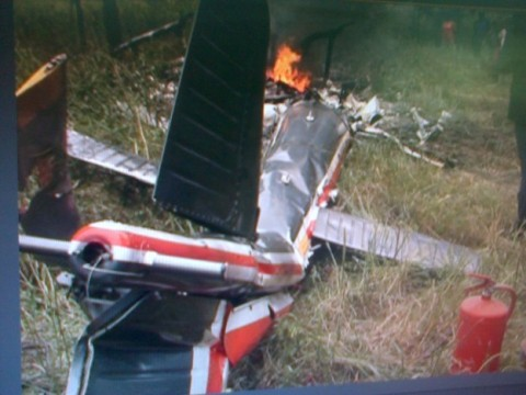 A SOUTH AFRICAN registered seven-seater plane has crashed and burnt to a shell in Mazabuka.