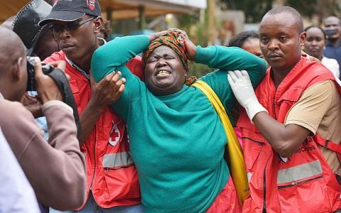 A relative of one of the students massacred by Somalia's Shebab Islamists at a Kenyan university Photo- Tony Karumba:AFP:Getty Images