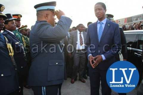 Edgar lungu's Arrival from China, saluted by Service chiefs - Photo Credit Jean Mandela - Lusakavoice.com