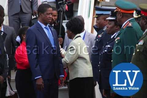 Edgar lungu's Arrival from China, weolcome by Military , defence etc - Photo Credit Jean Mandela - Lusakavoice.com