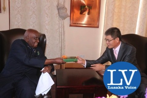 KK with Chinese Ambassador to Zambia Mr Yang Youming a this home (State Lodge area). - Photo Credit Jean Mandela - Lusakavoice.com