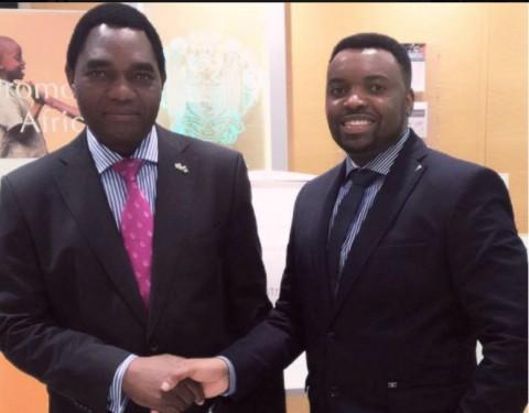 Mweetwa Larry, HH, Hichilema