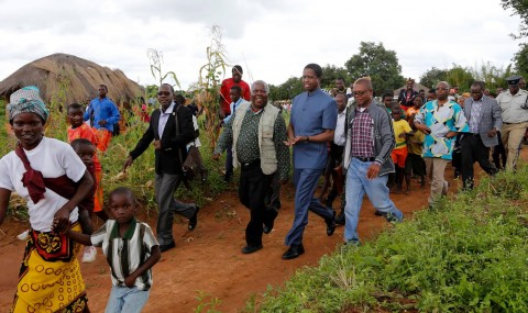 President Edgar Chagwa Lungu was in Senga Hill Constituency to drum up support for PF Parliamentary Candidate Kapembwa Simbao on April 10,2015 -Pictures by EDDIE MWANALEZA