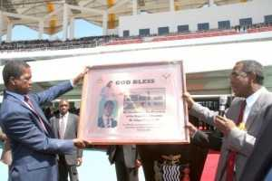 President Edgar Lungu during the Celebration of the one million membership of the Seventh Day Adventist Church in Zambia at Heroes Stadium on April 2 5,2015 -Pictures by THOMAS NSAMA