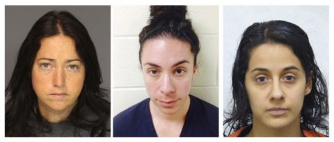 A combination image of booking photos show teachers convicted of sexual assaults (L-R) Nicole Dufault, Erica Ann Ginnetti and Kathryn Ronk in Essex County Department of Corrections, Michigan Department of Corrections, and Pennsylvania State Police photos respectively. REUTERS/HANDOUT VIA REUTERS