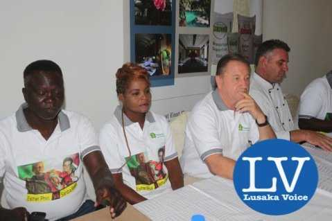 from left to right- Trainer Anthony Mwamba, Esther Phiri , Peter Cottan and Lusaka Grand Hotel Executive Chef Eric Buitendjik - Photo Credit Jean Mandela - Lusakavoice.com