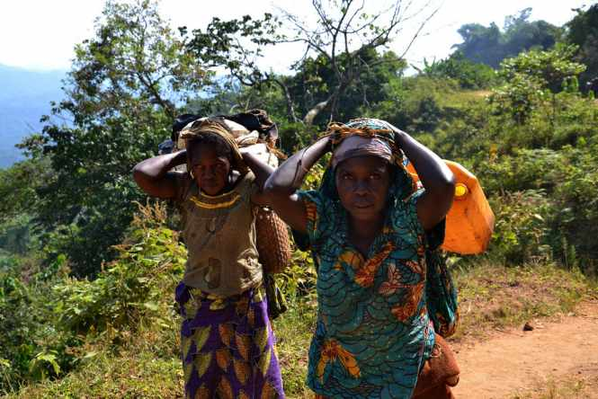 6 June 2013, South Kivu, DRC- These women were forced to flee their homes when a rebel group attacked their village in early June. Credit UN