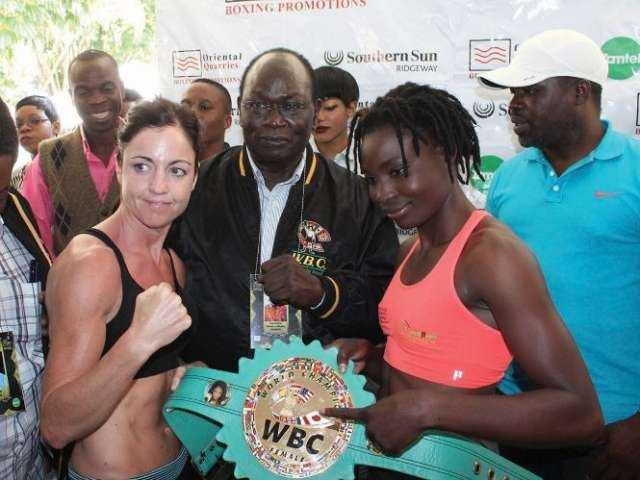 CATHERINE Phiri is about to face off Christina McMahon live on ZNBC TV1 as they fight for the vacant World Boxing Council (WBC) Gold bantamweight interim belt at Mulungushi International Conference Centre in Lusaka.
