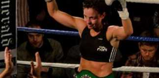 """Christina """"Lightning"""" McMahon Wins the Celtic Warrior Womens Bantamweight Title - Photo Credit- Gerard Donnelly"""