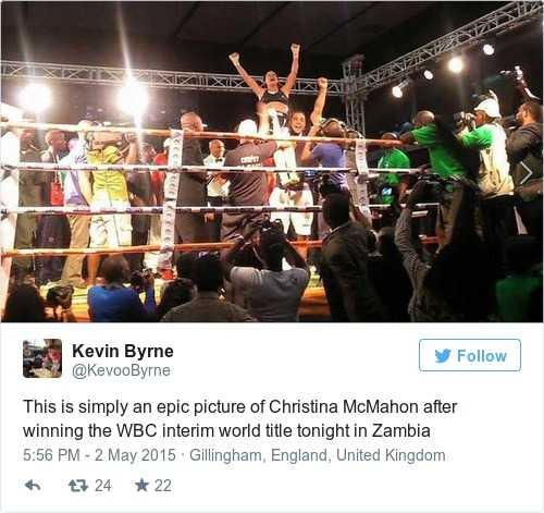 Christina McMahon is Ireland's newest world boxing champion