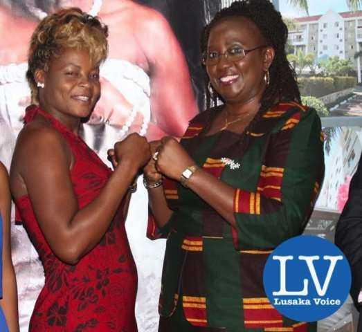 Esther Phiri and Minister Emerine Kabanshi  - Photo Credit Jean Mandela - Lusakavoice.com