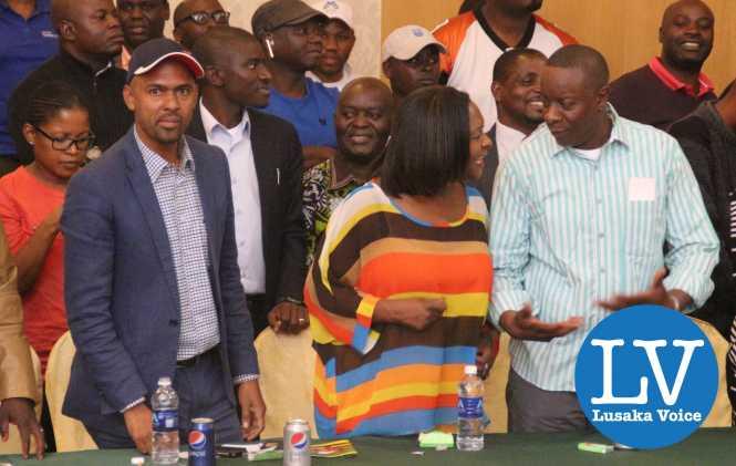 Minister Vincent Mwale , Minister Margaret Mwanakatwe and her husband Dr Mupanga  Mwanakawe, Zamtel CEO
