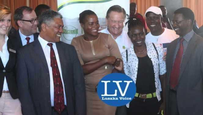 Janina Baalmann, Didier Coeln , Given Lubinda , Boxers Esther Phiri and Catherine Phiri, Peter Cottan, Mike Zulu and Sikota Mwanang'ombe .jpg