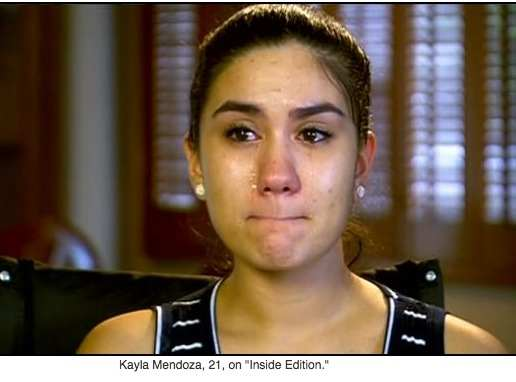 Kayla Mendoza, 21, - credit Inside Edition.
