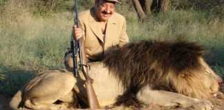 Lion hunting - IMage credit voyagerexpeditions.com