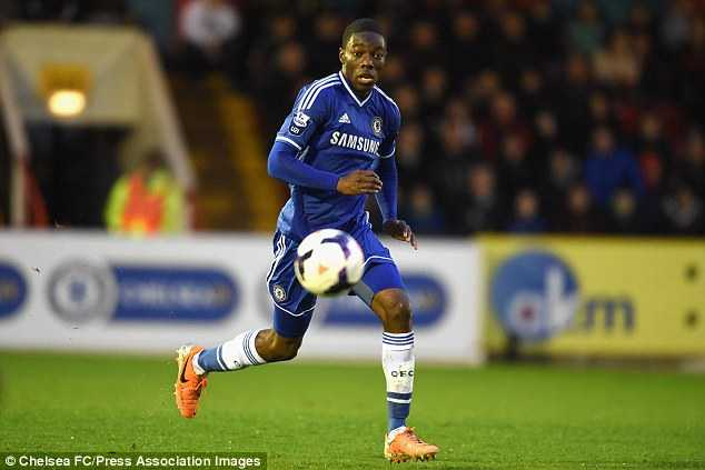 Tika Musonda, the middle sibling, in action for Chelsea Under 21s