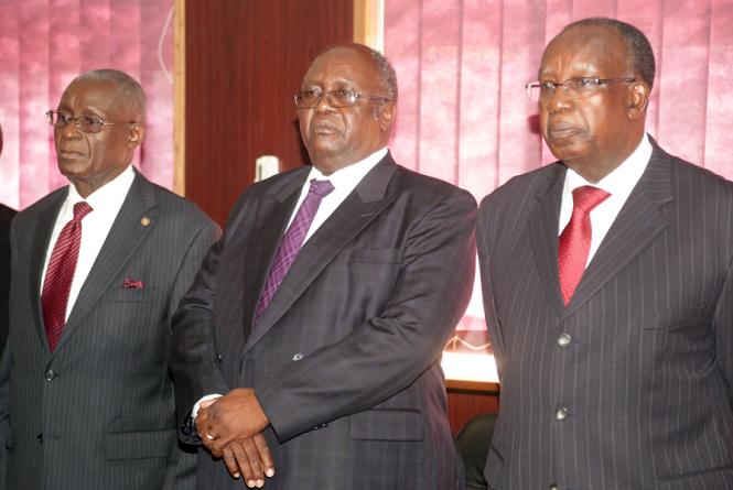 Justices Annel Silungwe, Mathew Ngulube , Ernest Sakala