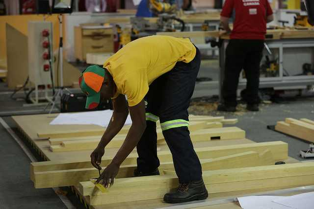 Osward Kabwe -  WorldSkills Zambia Competitor in Carpentry