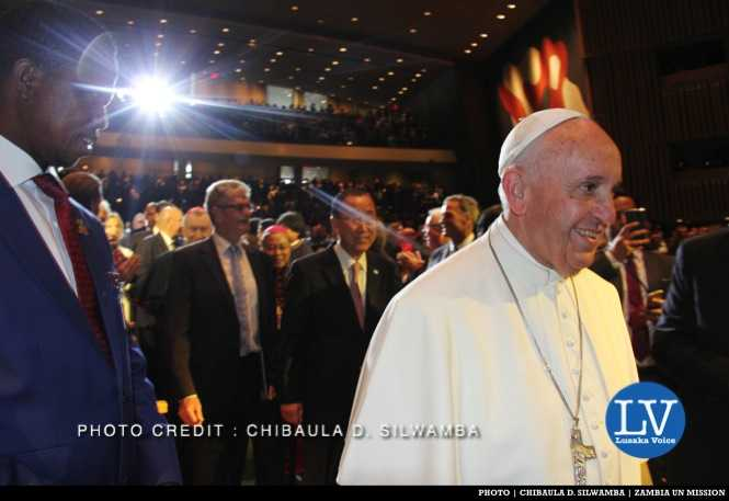 LIGHT SHINES ON PRESIDENT LUNGU AS POPE PASSES - Photo Credit CHIBAULA D. SILWAMBA