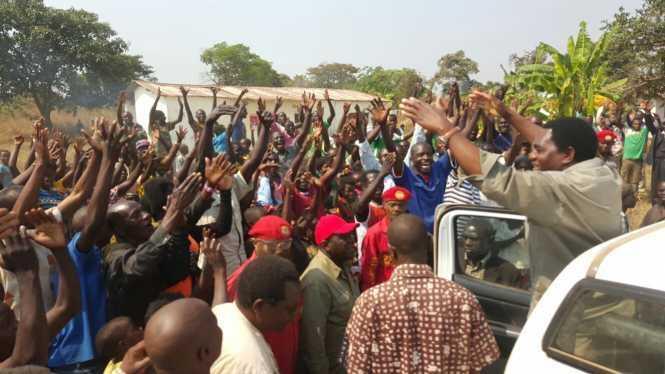 Hakainde Hichilema in Solwezi