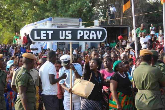 Prayer at Show grounds