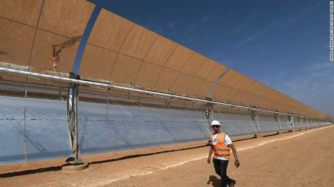 Morocco has switched on what will be the world's largest concentrated solar power plant.