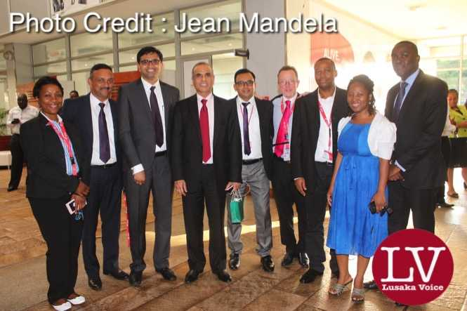 Bharti Airtel CEO and Chairman Sunil Bharti Mittal  addressing the staff of the Airtel Networks Zambia Plc Staff at the head office (Manda Hill).
