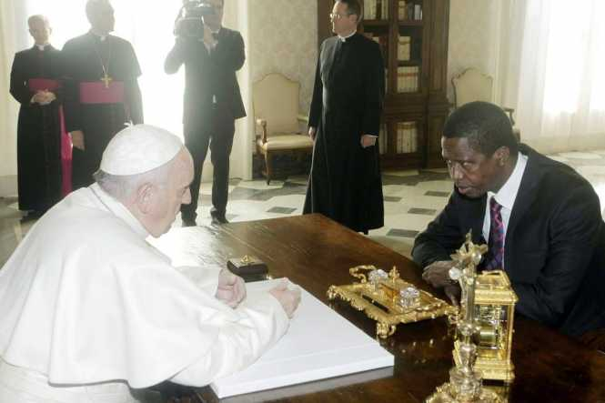 President Edgar Chagwa Lungu meets Bishop of Rome and Pope Francis at the Vatican