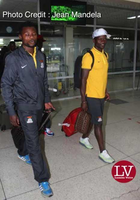 Zambia National team arrived from Kigali where it took part in Rwanda CHAN 2016 using Rwandair at Kenneth Kaunda Airport around 1600, this Monday, February 1st, 2016.