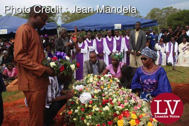 Late Faith Kandaba burial at Lusaka Memorial Par