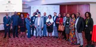 Ashish, Ministers Lubinda, Luo and Mwale with Zambian Mara Mentors