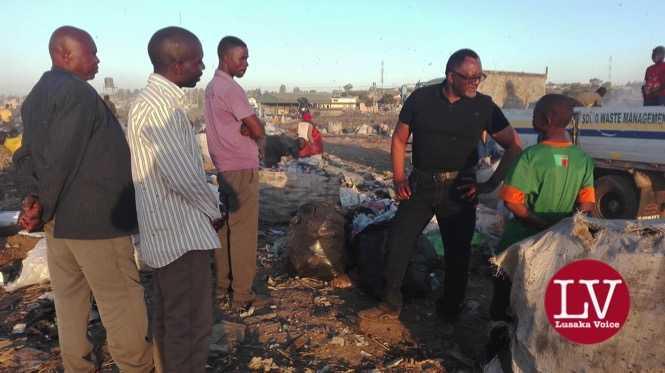 Fisho P Mwale Lusaka Mayor Aspiring Candidate 2016 Elections at the infamous Chunga Landfill-1