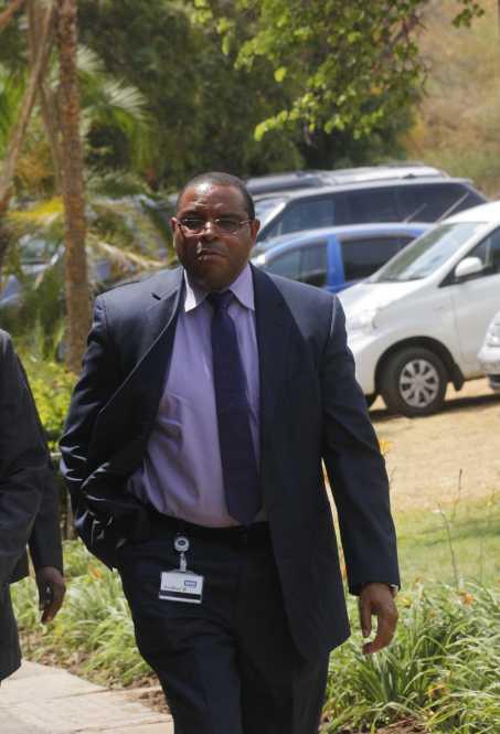 Bank of Zambia Governor Dr Denny Kalyalya  arrival.